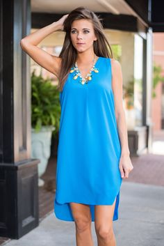 Is That Sew Dress, Turquoise - The Mint Julep Boutique