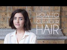 How to Cut Your Own Hair - Short Hair/Bob - YouTube