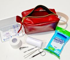 Blythe Leonard Limited Edition Red Leather First Aid Kits  http://www.blytheleonard.com/#!blank/tic3p/98eb828c-6881-5693-f1df-65d2589ed552