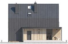 Projekt domu Malutki dr-S 79,48 m2 - koszt budowy - EXTRADOM Garage Doors, Shed, Exterior, House Design, Outdoor Structures, Outdoor Decor, Home Decor, Houses, Home