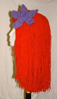 Yarn Mermaid Princess Wig from Etsy shop LG Designs owned by my best friend. She will do custom orders and also makes crochet hats for kids in fun designs like Iron Man! Check her out: http://www.etsy.com/people/LisaGDesign86