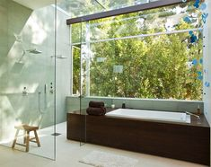 Great bathroom. How cool is that shower!