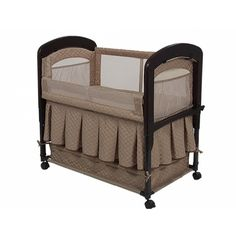 With the convenient Arm's Reach Cambria Co-Sleeper with Skirt, both parents and baby will sleep in comfort and security. The baby co-sleeper is ideal for safety and bonding.