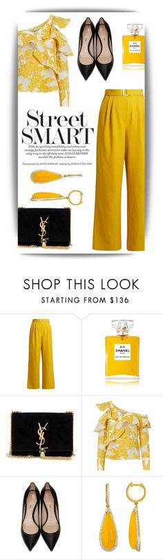 """Без названия #1748"" by marina-smile-nazarenko ❤ liked on Polyvore featuring TIBI, Chanel, Yves Saint Laurent, self-portrait and Nicholas Kirkwood"