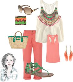 Summer Cool with Braid, created by rhonda-hemling on Polyvore