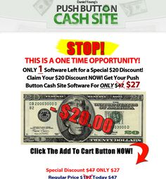 How to Earn a living using the internet has done it again!  Check out the latest review and find out if this auto-pilot traffic generating software is just what you have been looking for to boost sales and traffic. Find out how to get buyers traffic!   http://howtoearnalivingusingtheinternet.com/push-button-cash-site-review-can-cash-really-be-made-at-the-push-of-a-button/