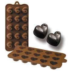 Chocolate con forma de corazón Chocolates, How To Make Chocolate, Mold Making, Ice Tray, Silicone Molds, Wallpapers, Photography, Free, Products