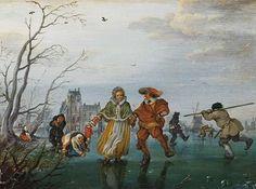 Adriaen Pietersz Van De Venne: The Port Of Middleburg, Winter  http://annabregmanportraits.co.uk/seasonal-skating-paintings/