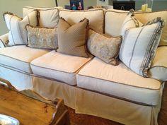 Quatrine Veranda Sofa with custom designed pillows