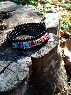 Neon Personalized Beaded Name Bracelet on Etsy, $8.00