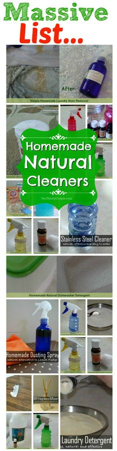Have you been wanting to make your own Homemade Natural Cleaners but didn't know where to start?  Get this FREE ebook with 22 thrifty (yes - they are even cheap to make) natural cleaner recipes and find out just how easy it is to make natural cleaners that actually work!