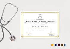 blank medical appreciation certificate template 12 formats included illustrator indesign ms word