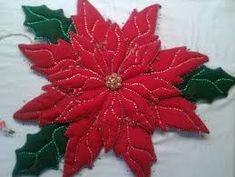 Resultado de imagen para flores de pascuas navideñas con moldes