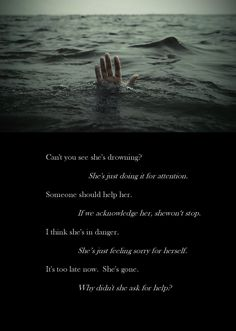 Discover and share Drowning Sad Quotes. Explore our collection of motivational and famous quotes by authors you know and love. Familia Quotes, Dark Quotes, Depression Quotes, Depression Help, My Demons, How I Feel, Ptsd, Just Do It, Deep Thoughts