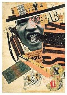Raoul Hausman is a Dada art and back in 1920 he made this with random images called ABCD, he used random images from newspapers to create a weird pattern & texture. When I first saw my eye went to the ABCD logo in the mouth with the bits of space, the differefent tones & the random hands at the bottom. I picked this because the face with the space in the mouth captured my eye & then the random images.