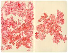 """James Jean - Carnage, Ink on Paper, 9x10"""", 2012 #Sketchbook"""