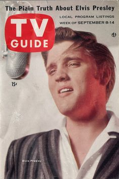 ♡♥Elvis Presley 21 yrs old enjoys the best year in his life & career being on the cover of 'TV Guide' on the Sept 8th-14th,1956 edition♥♡