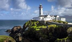 This is the story of the most beautiful place I have ever seen. It can be found at the top of a rocky headland in County Donegal, Ireland. It's called the Fanad Head Lighthouse. Best Of Ireland, Moving To Ireland, Ireland Travel, Beautiful World, Beautiful Places, Lighthouse Pictures, Donegal, Covered Bridges, Places To See