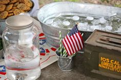 """Everything you need to know about throwing a vintage """"army"""" or """"war"""" party for a little boy - products, ideas, menu, playlist - its all here!"""