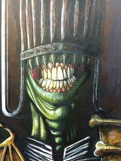 #JudgeDeath painting #2000AD #JudgeDredd