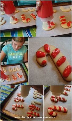 Decorating Cookies with Royal Icing-Candy Cane Cookies