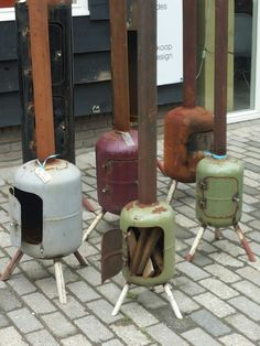 Tuinkachel Buitenkachel Metal Projects, Welding Projects, Metal Crafts, Projects To Try, Sauna Diy, Jet Stove, Gas Bottle Wood Burner, Diy Wood Stove, Outdoor Stove