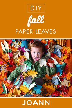 Add that autumn touch to your home with these DIY Fall Paper Leaves from JOANN! This creative project is great for decor or make a big pile and let the little ones jump right in. Fall Projects, Weekend Projects, Leaf Crafts, Fall Crafts, Magnolia Leaf Garland, Cricut Mat, Opposite Colors, Glue Tape, Paper Leaves