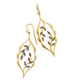 Leaf earrings, by Cathy Waterman, from Ylang 23