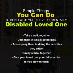 Simple Things You Can Do to Bond with Your Developmentally Disabled Loved One Simple Things, Disability, You Can Do, Bond, First Love, Activities