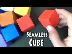 """Origami Seamless Cube. Try using our WHO template to personalize your WHO box! Website going """"Live"""" in April!"""