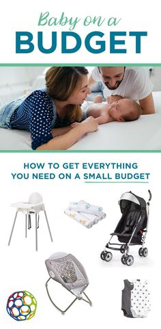 You don't have to spend a ton of money to get ready for your first baby! From your crib to your high chair, here's a complete registry of baby gear at unbeatable prices. Baby Items Must Have, Baby Registry Must Haves, Baby On A Budget, Baby Girl Cards, Newborn Essentials, Baby List, Personalized Baby Gifts, Everything Baby, Baby Needs