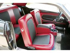 "Pics of red and black tmi ""Carbon Fiber"" Upholstery - Vintage Mustang Forums"