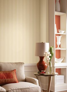 Ashford Striped Wallpaper Adds Fab To Your Walls More fab Subtle striped wallpaper. http://decoratingheaven.com.au/ashford-striped-wallpaper/