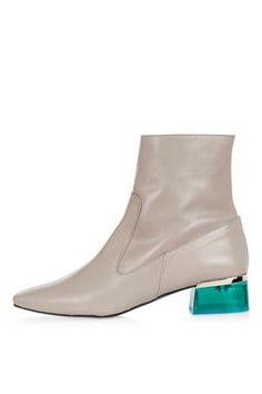 AUBERGINE Perpsex Heeled Boots