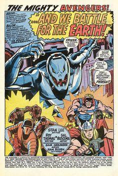 Avengers, Ultron, 1969, Art: Sal Bscema