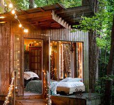 Uma tendência nos Estados Unidos, as cabanas femininas são usadas para momentos de leitura, relaxamento, trabalho, e para receber visitas