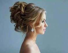 I love the texture to this! High updo, would the love veil to sit in the middle! Loving the curly bun look.