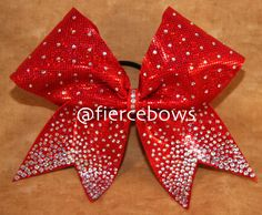 Ruby Red Flip Flops Princess Cheer Bow