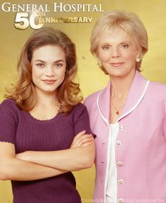 "General Hospital 50th Anniversary.  Elizabeth Webber and her ""Gram"" Audrey Hardy"