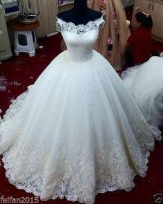 Vestido De Noiva Renda Vintage Lace Princess Wedding
