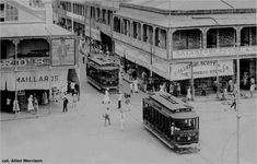 The corner of Independence Square and Frederick Street, Port-of-Spain back in the days of trains and trams in Trinidad & Tobago. Port Of Spain Trinidad, Trinidad Caribbean, Trinidad Und Tobago, Show Photos, Old Photos, Trinidad Culture, Bonde, My Land, Historical Photos