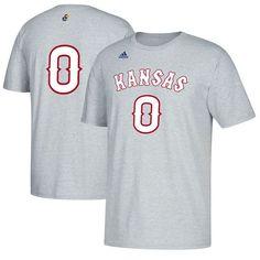 #0 Kansas Jayhawks adidas Basketball Number T-Shirt - Gray - $21.99