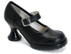 Fluevog's Mini Georgeous will get you stopped at Heathrow International Airport, even if you are 64, according to my überhip mom. These comfy heels are easy to wear, even all day.