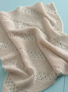 Free Pattern: Treasured Heirloom Baby Blanket - Mixed feelings about putting here since it's such an interesting stitch pattern and would make wonderful scarf or afghan.