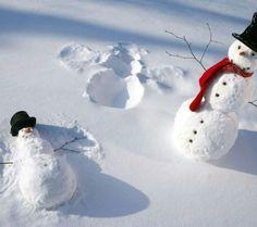 57167-Snowman-Making-Snow-Angels