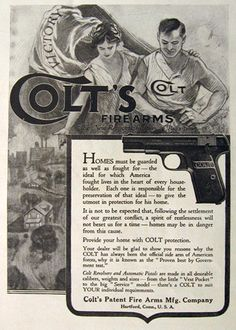 1919 Colt WWI Firearms Pistol AdLoading that magazine is a pain! Get your Magazine speedloader today! http://www.amazon.com/shops/raeind