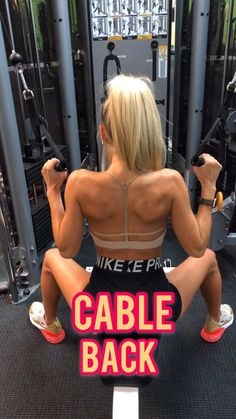 Toned and tighten your back with these weighted back exercises. Using dumbbells plates and cable machines to get a killer back workout. Killer Back Workout, Gym Back Workout, Back Exercises Gym, Back Cable Workout, Back Workouts, Dumbbell Back Workout, Workout Exercises, Body Fitness, Fitness Goals