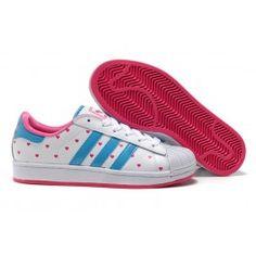 hot sale online 12dbc 06f17 Engros Adidas Superstar II Hvid Blå Pink Dame Skobutik  Køligt Adidas  Superstar II Skobutik  Adidas Skobutik Online  denmarksko.com