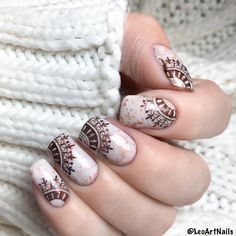 Cool french #nailstamping from @leoartnails, really nice #naildesign, more details shared in bornprettystore.com.