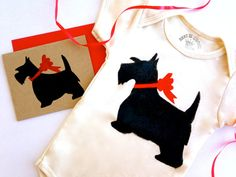 Scottie Baby Onesie Romper Organic Infant Clothes Scottish Terrier Bodysuit % to ANIMAL RESCUE Scotty Dog One Piece ECO Red Clothing 3-6 mo 6-12 mo